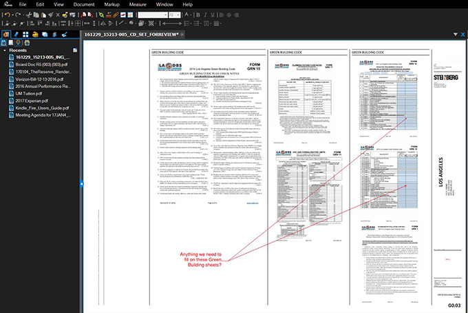 Make notes and collbroate on pdfs with Bluebeam