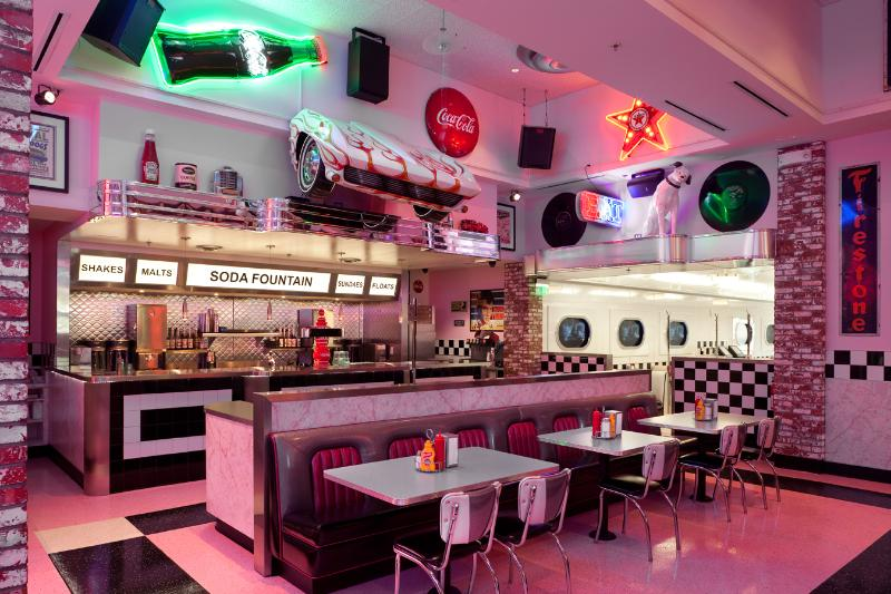 14500 Sq Ft Themed Diner Including 50s Style Bar Traditional Soda Fountain Car Dining Room Grovy Blacklight Corvette Club Of San