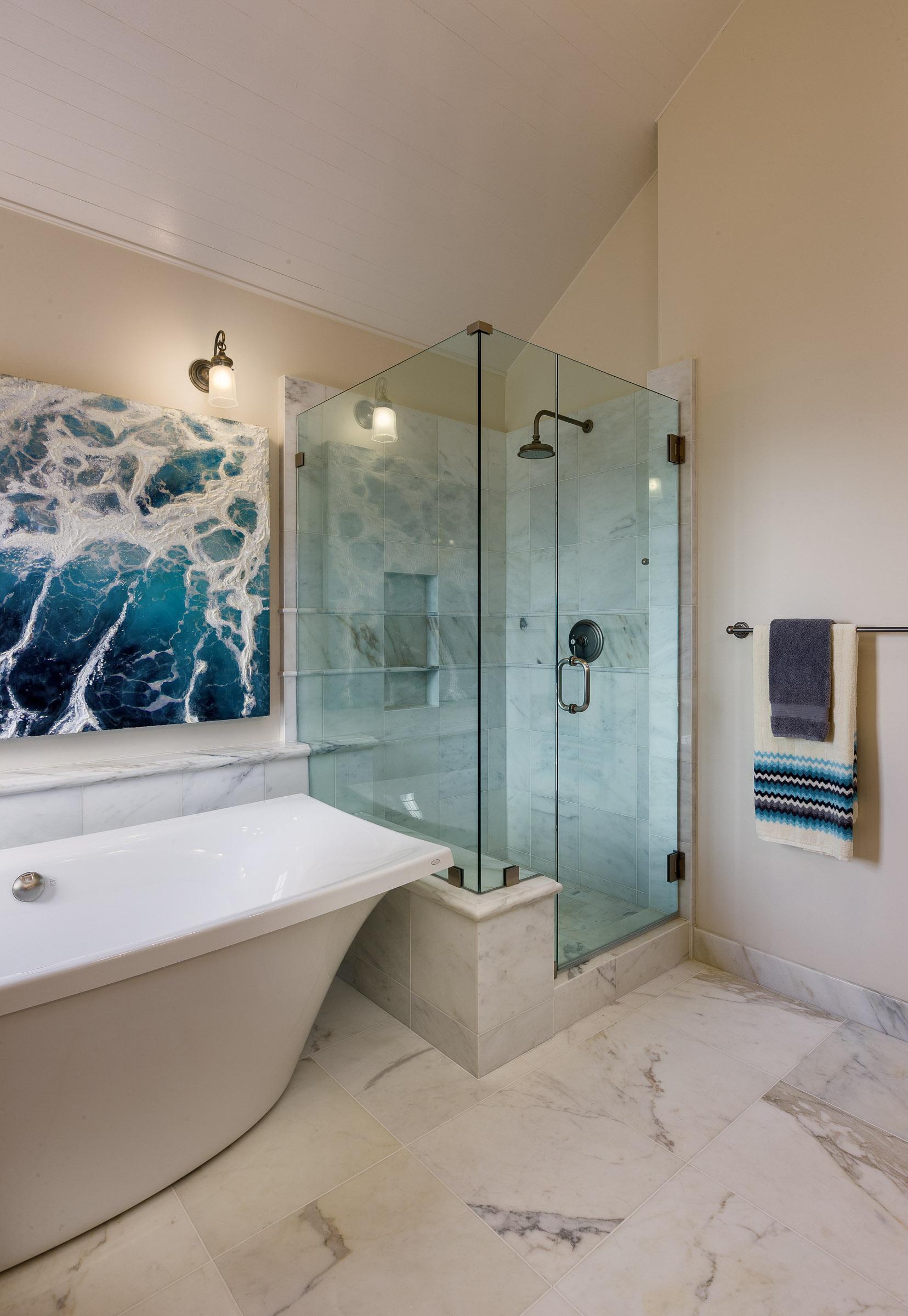 Nautical Home Master Bathroom - Point Loma