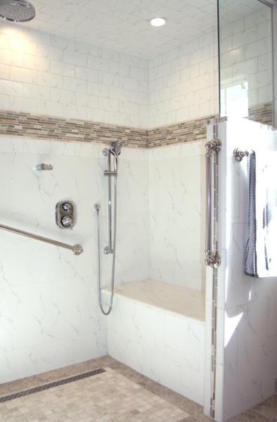 Wheelchair & Hoyer Lift Accessible Shower