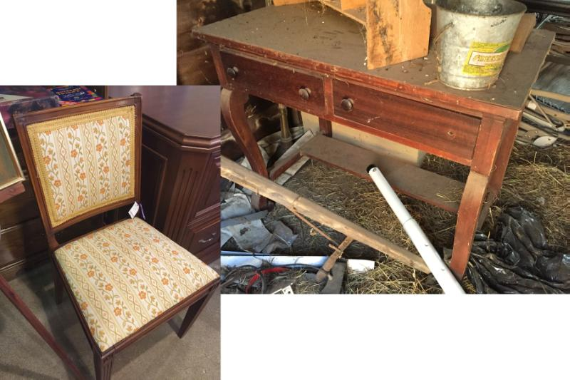 B4 Chair and Vanity