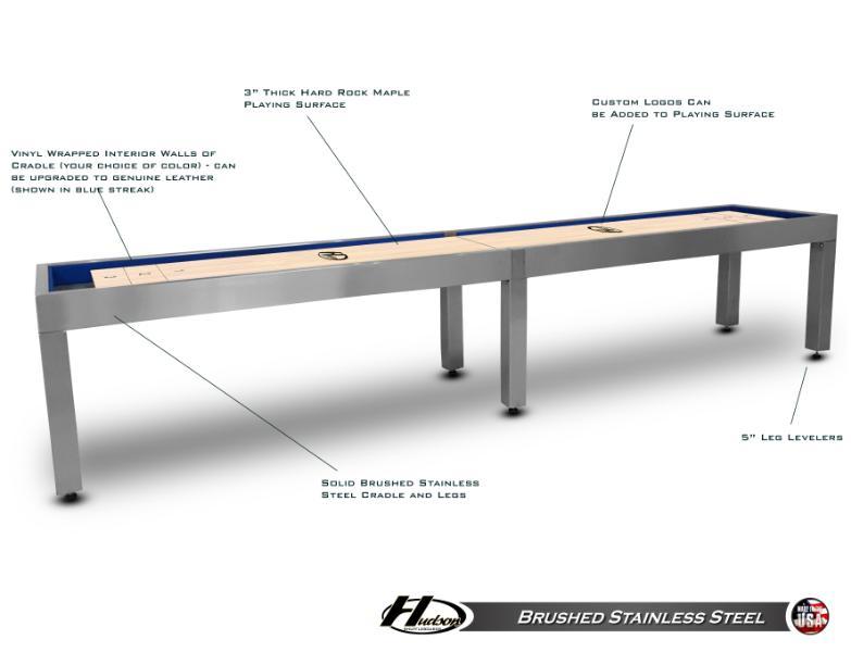 Brushed Stainless Steel Shuffleboard