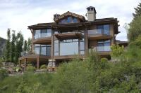 This three story home has a breath-taking view of the Wood River in Sun Valley, Idaho